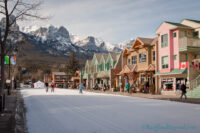 Ski Down Main Street During The Canmore Winter Carnival