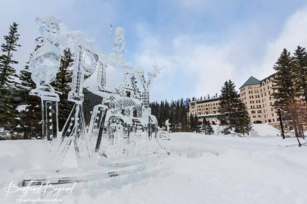 play on words ice carving sculpture