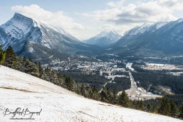 mount-norquay-lookout-spectacular-view-banff-town-mountain-valley-trees-rivers-canada-rockies-free-alternative-gondola-tourist-attraction