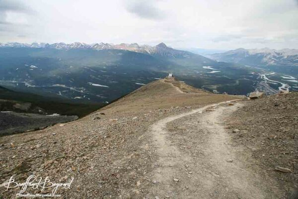 view of whistlers mountain summit trail