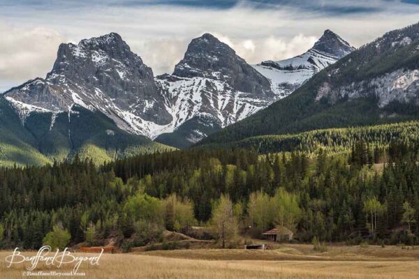 the three sisters mountains in canmore