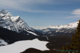 Bow Summit And Peyto Lake Lookout In Winter