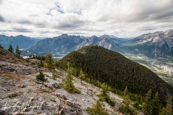 view of bow valley from sulphur mountain gondola banff