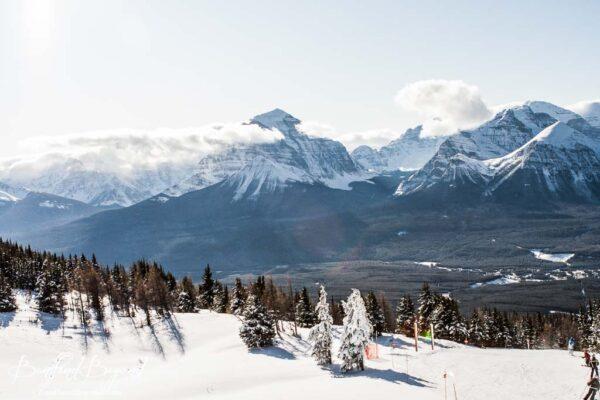 beautiful views of valley from top of lake louise ski resort