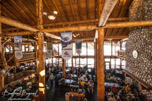 lake-louise-ski-lodge-resort-huge-wood-beams-rustic-snow-winter-activities