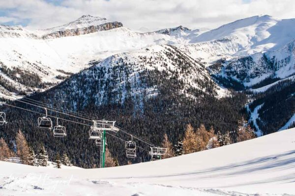 lifts at lake louise ski resort mountain