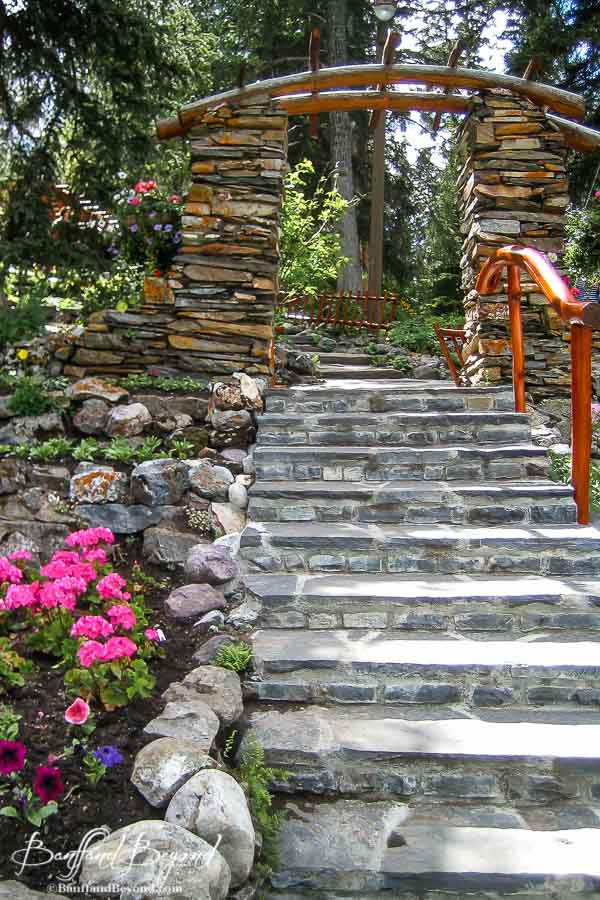 stone steps in banff cascade gardens