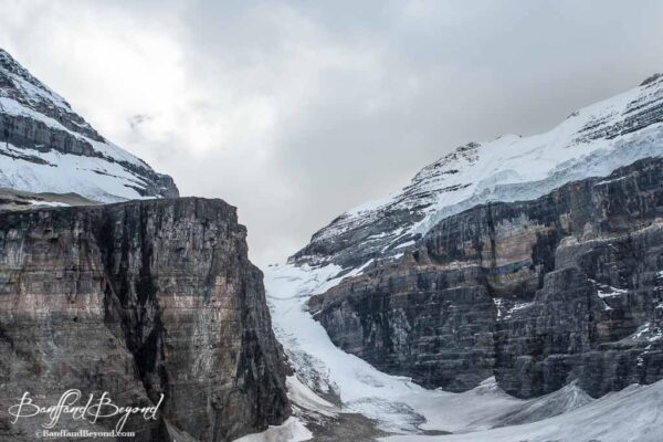 abbots pass as seen from the trail beyond plain of six glaciers tea house
