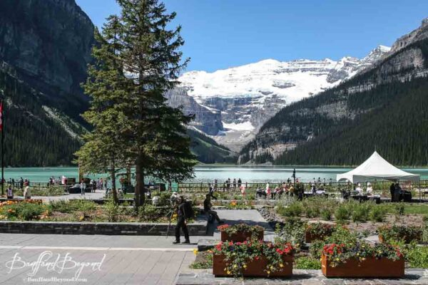lake louise canada day celebrations at the fairmont hotel