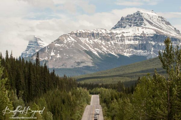 incredible mountain views on icefield parkway