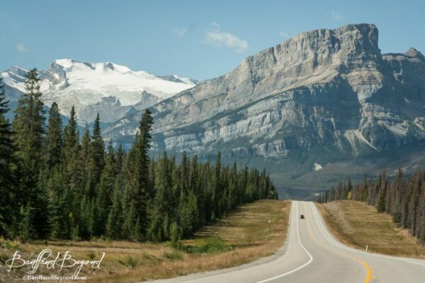 majestic views of mountain ranges on icefield parkway