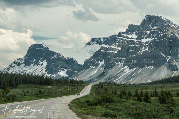 massive mountains on the icefields parkway