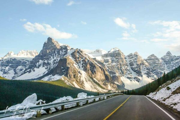 the road to moraine lake and the valley of the ten peaks