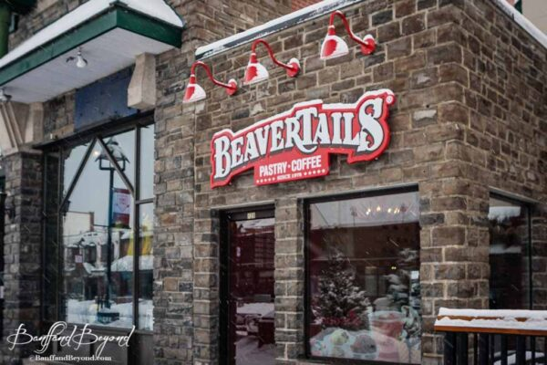 beaver tails pastry and coffee shop downtown banff avenue