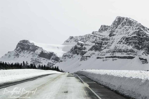 icefields parkway road conditions in winter