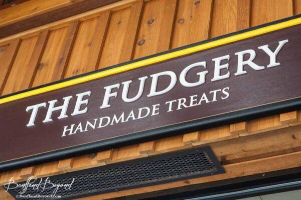 the fudgery handmade treats shop downtown banff avenue candy store
