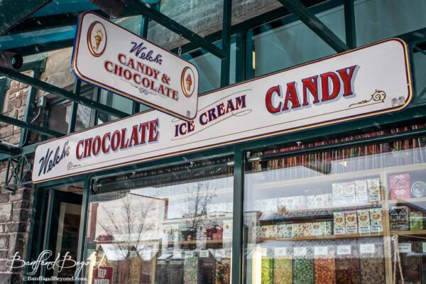 welchs chocolate ice cream candy store on banff avenue downtown