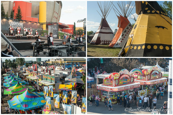 Attractions and entertainment at the calgary stampede