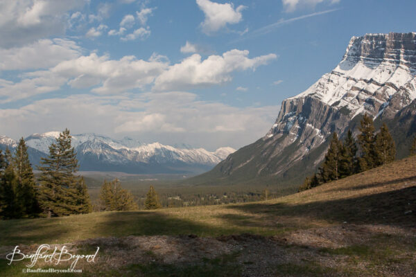 view of the bow valley from tunnel mountain road drive