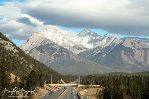 trans canada highway 1 running through banff national park
