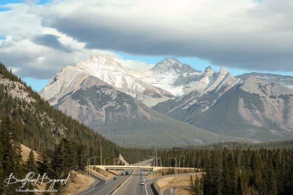 trans canada highway 1 running through banff national park