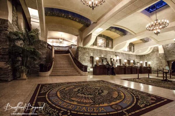 check in and reception at the banff springs hotel
