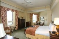 deluxe room at the banff springs with views of the bow river golf course and mountain
