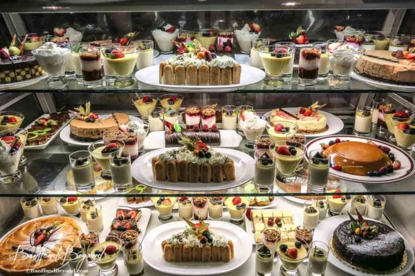 dessert options at the bow vally grill brunch at the banff springs hotel
