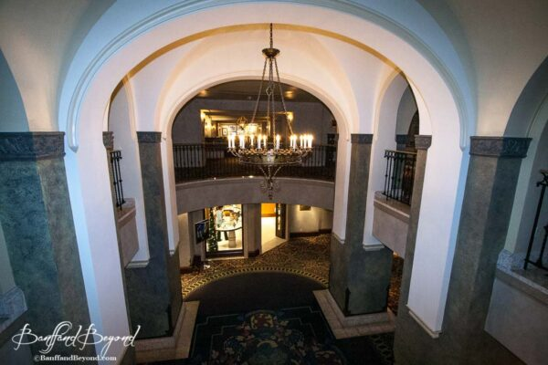 grand architecture of the banff springs hotel interior