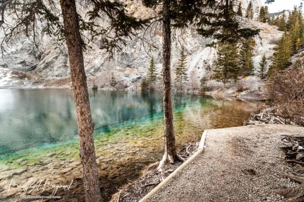 grassi lakes hiking trail in canmore
