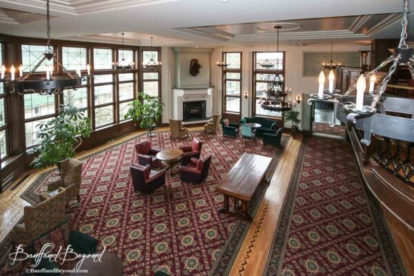 lounge area of the banff springs hotel