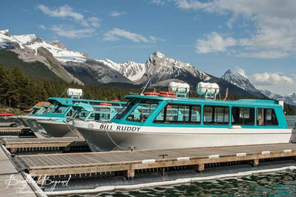 maligne lake boat tour dock in jasper