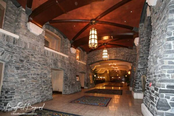 reception hall at the banff springs hotel