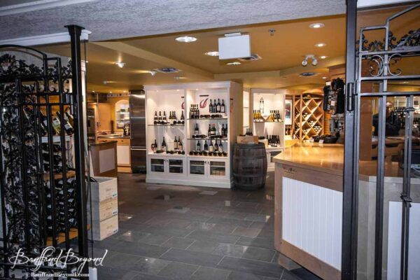 specialty wine shop at the banff springs hotel
