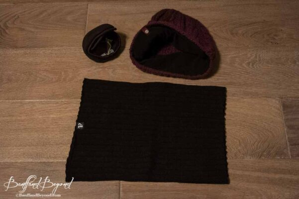 fleece lined toque neck warmer and ear grips