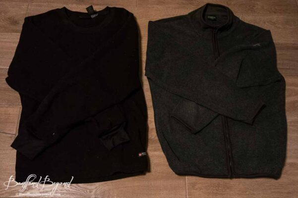 fleece pullover or jacket a layer of warmth in cold rocky mountain weather