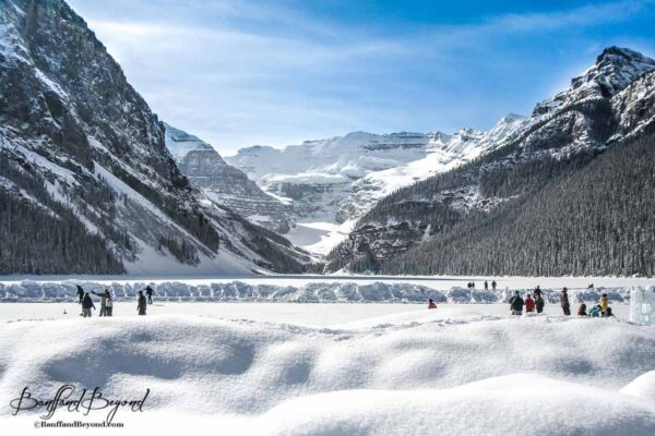 one of the worlds most beautiful outdoor skating rinks at lake louise