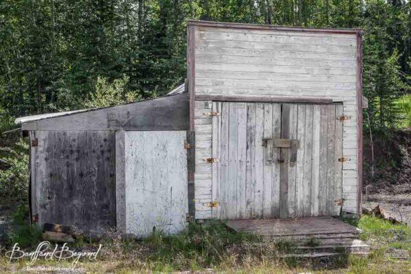 abandoned building in historic town of nordegg alberta