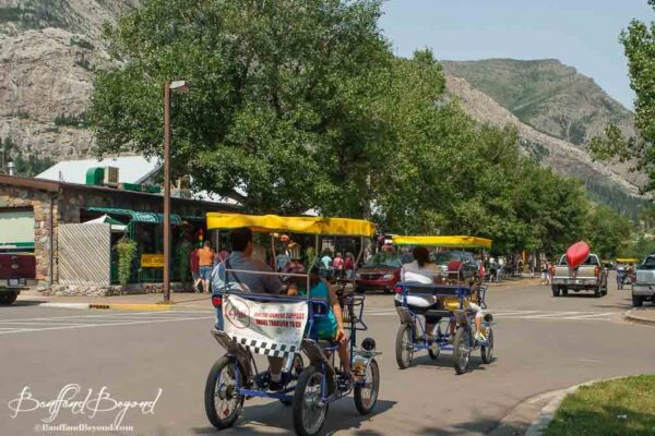 surrey-pedal-bicycle-rentals-waterton-village-tourist-activity