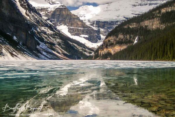 lake-louise-thawing-ice-early-june-spring-glacer-water-banff-national-park