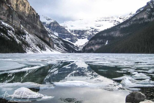 lake louise thawing in the end of may