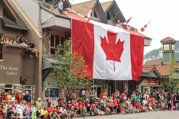 canada day parade in canmore