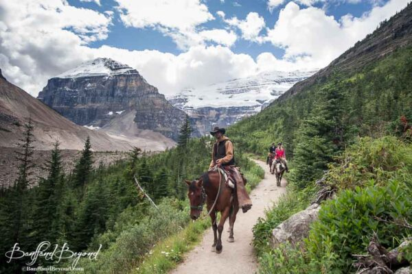 horseback trail ride in lake louise