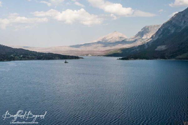 lake in glacier national park montana