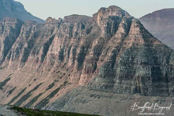 massive mountain known as the garden wall in glacier national park