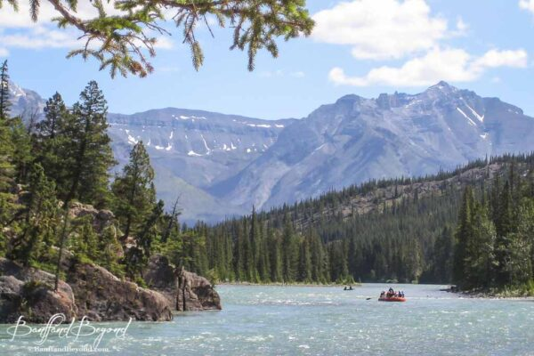 rafting on the bow river in banff national park