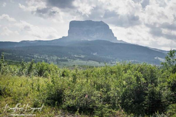 sacred chief mountain montana usa