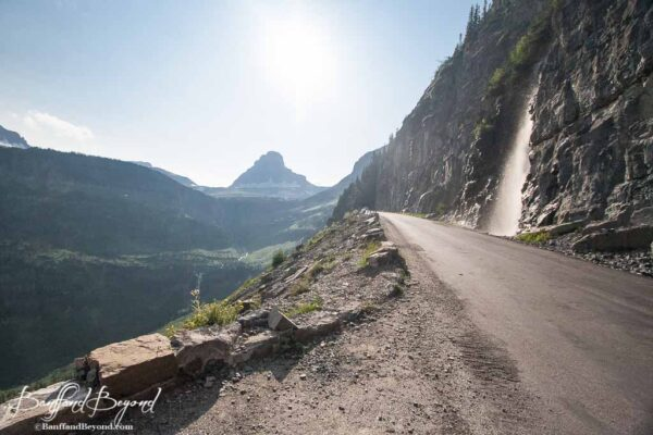 sharp drop offs on the going to the sun road
