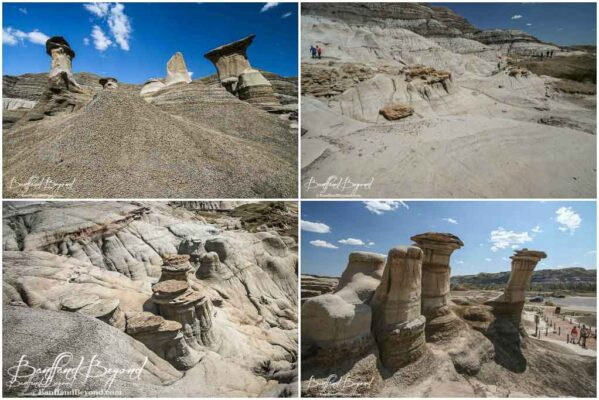 pillars on the hoodoo trail in drumheller alberta